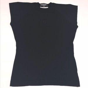 Vintage Chanel Boutique CC Logo Women's 38 S Shirt